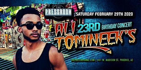 ALI TOMINEEK @ The Pressroom tickets