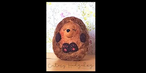 Needle Felting Workshop with Little Felted Dreams, Cutesy Hedgehog