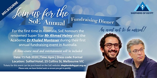 Shepherd of Egypt Annual Fundraising Dinner Melbourne 2020