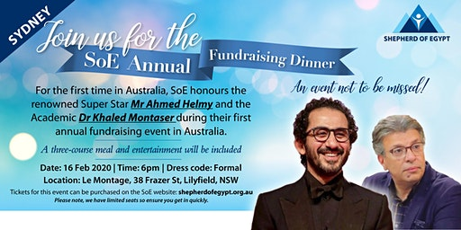 Shepherd of Egypt Annual Fundraising Dinner-Sydney