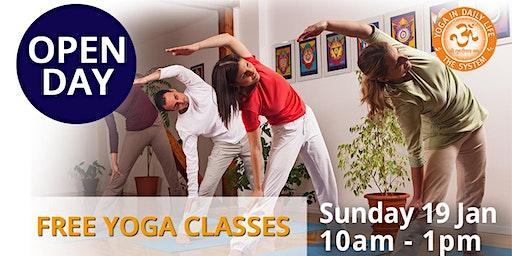 OPEN DAY - Free Yoga Classes