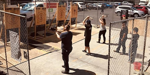 Urban Axe Throwing @ Common Space Brewery in Hawthorne