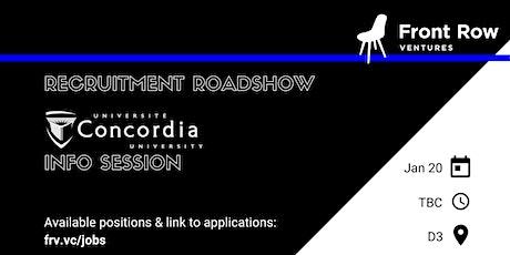Front Row Ventures x Concordia tickets