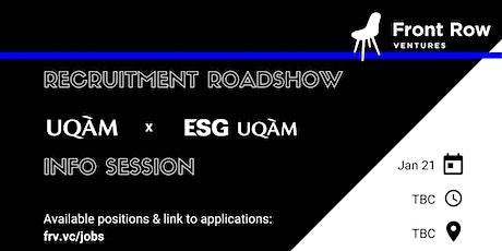 Front Row Ventures x UQAM x ESG UQAM tickets