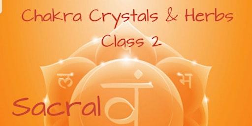 Chakra Crystals & Herbs. SACRAL Class 2
