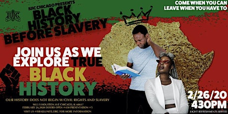 Black History Month Before Slavery tickets