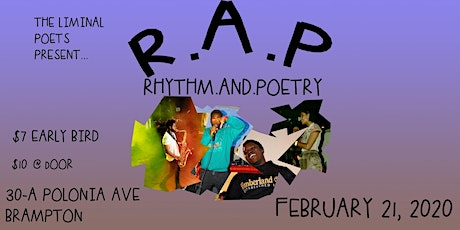 The Liminal Poets Present: R.A.P. - Rhythm and Poetry tickets