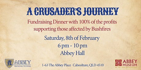 A CRUSADERS JOURNEY - BUSHFIRE FUNDRAISER tickets