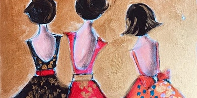 Paint Night in Annandale: Three Girls