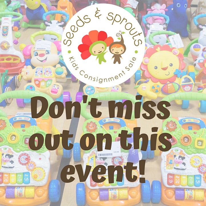 Seeds and Sprouts Kids Consignment Sale - Spring 2021 Presale Event image
