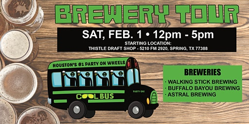 Cool Bus Houston Brewery Tour - 2/1