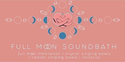 Full Moon sound bath and chord cutting