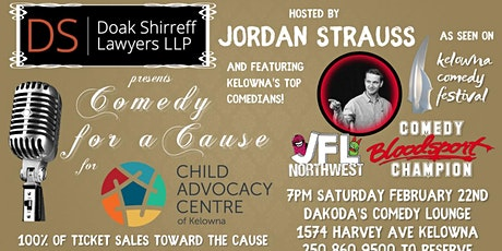 Doak Shirreff presents Comedy for a Cause for the Child Advocacy Centre tickets