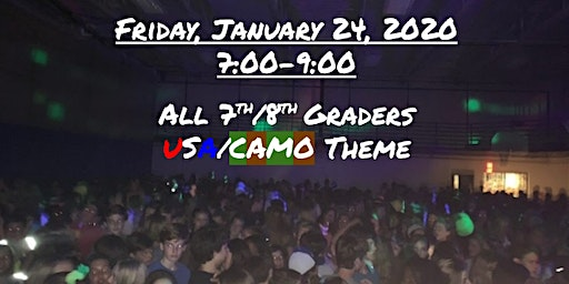 Priory Winter Middle School Mixer (USA/Camo Theme)
