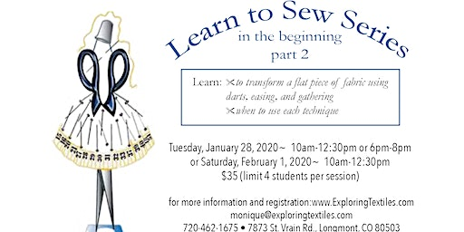 Learn to Sew Series- Part 2 of 4