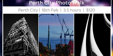Perth City Photo Walk - 3.5 hours tickets
