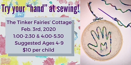"""Try your """"hand"""" at sewing! tickets"""