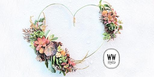 Valentines Succulent Wreath Class