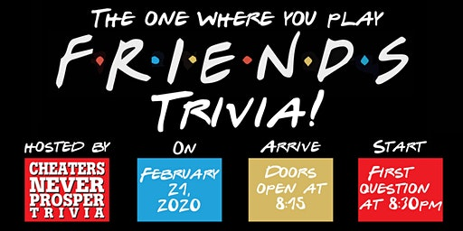 Friends Trivia 8:30 at the Winery!
