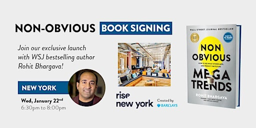 Non-Obvious Book Launch - New York Edition!