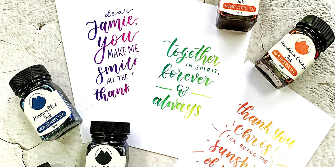 Ombré Brush Lettering Beginner Workshop by Stephtcreates