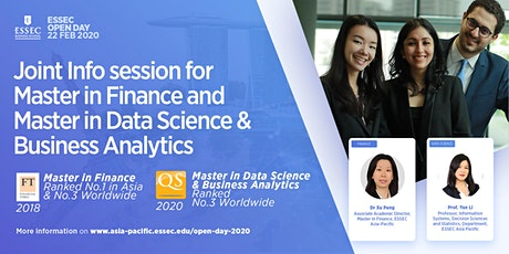 Joint Info-session for ESSEC Master in Finance and Master in Data Sciences & Business Analytics tickets