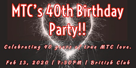 Come and celebrate... It's MTC's 40th Birthday! tickets