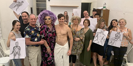Oxtravaganza Life Drawing Class (Male Model & Drag Queen)