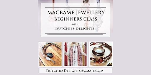 Macrame necklace jewellery class