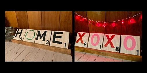 Reversible Valentine's Day Scrabble Letter Set