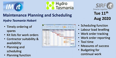 VICTAS Maintenance Planning and Scheduling Hydro Tasmania Hobart tickets