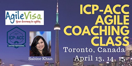 ICAgile ICP-ACC Agile Coach Certification Workshop - Toronto, CA tickets