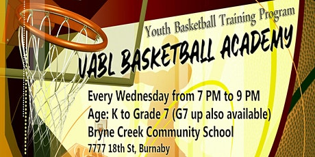 VABL Basketball Academy Burnaby 2020 tickets