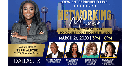 Develop Your Mindset To Double Your Income in 2020 Networking Mixer tickets