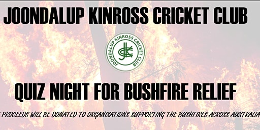 Joondalup Kinross Cricket Club Quiz Night for Bushfire Relief