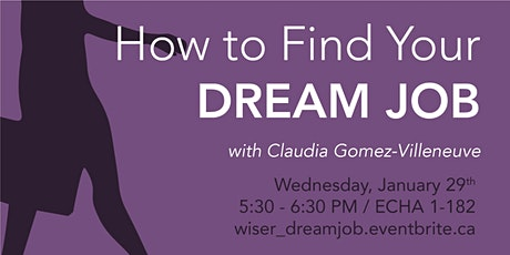 How to Find your Dream Job tickets