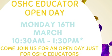OSHC Educator Open Day tickets