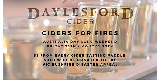 Ciders For Fires: Bushfire relief fundraiser