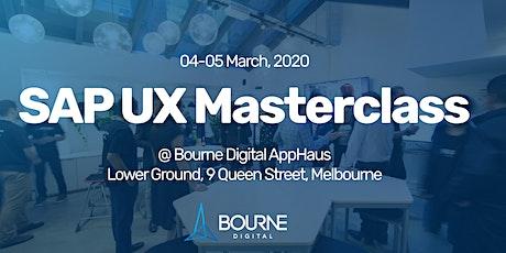 SAP UX Masterclass tickets