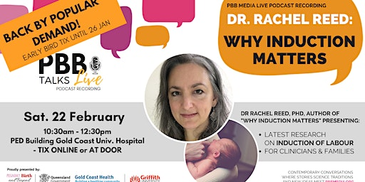 PBB Talks with Dr Rachel Reed: Why Induction Matters