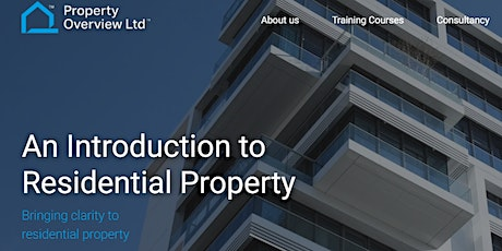 Introduction to Residential Property, 1 day course, London tickets