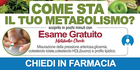 Metabolic Check Gratuito biglietti