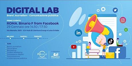 Digital Lab: Brand Journalism  - Comunicazione Pubblica biglietti