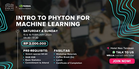 2-day Workshop: Intro to Python for Machine Learning tickets