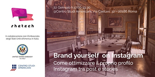 "SheTech Workshop ""Brand yourself on Instagram"""
