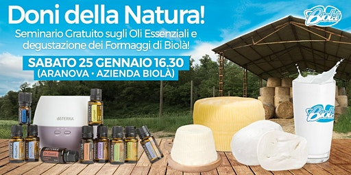 Aranova -  Corso Gratuito sugli Oli Essenziali e Degustazione Formaggi Bio