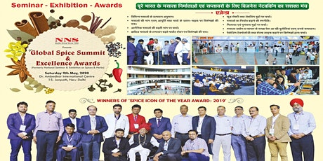 '9th Global Spice Summit & Excellence Awards'09th May, 2019, New Delhi tickets
