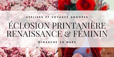"""Ateliers """"Éclosion printanière"""" billets"""