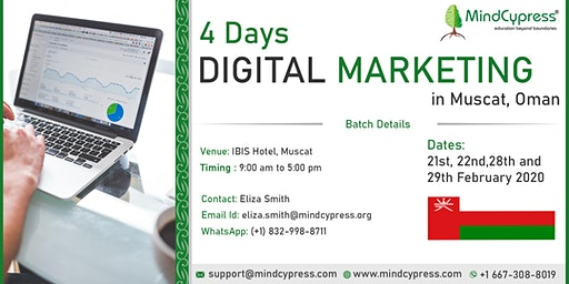 Digital Marketing 4 Days Training by MindCypress at Muscat