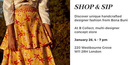 Shop and Sip - browse unique handcrafted dresses with drinks and nibbles tickets
